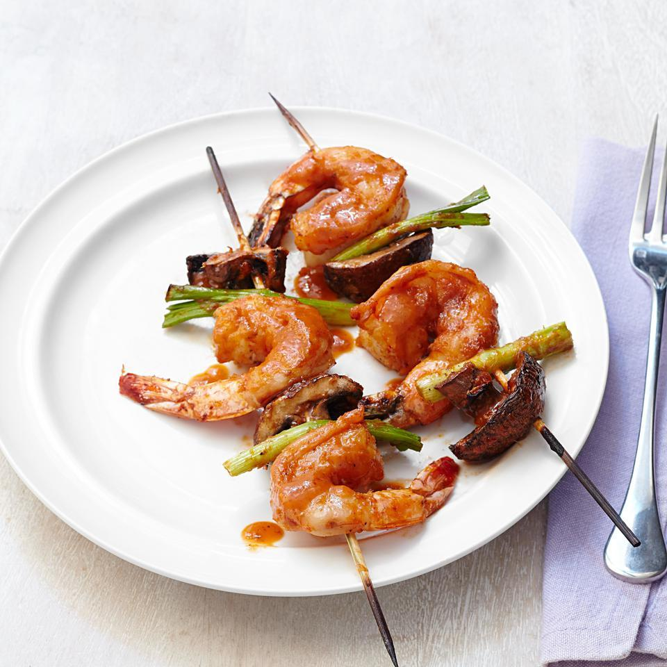 Shrimp Kebabs with Curry-Coconut Glaze EatingWell Test Kitchen
