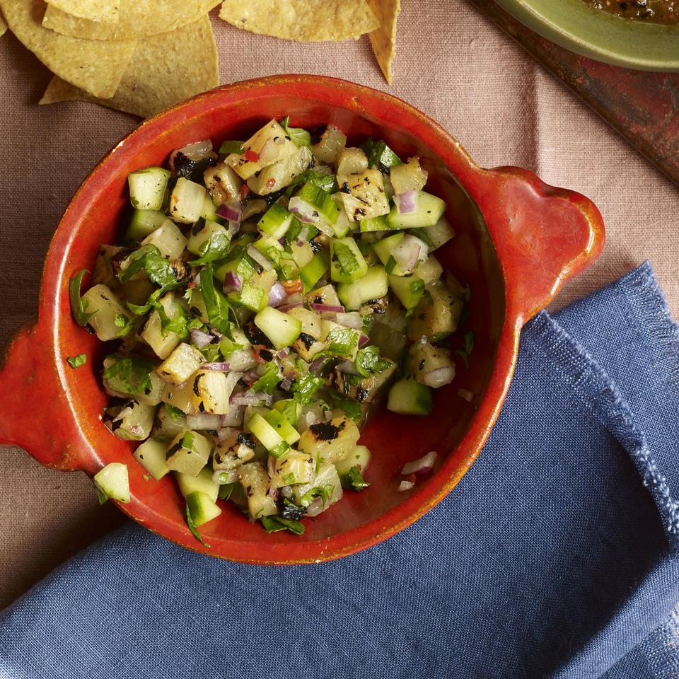 Habanero chile gives this caramelized pineapple salsa recipe a little spice. If you're looking to tame the heat, try fresh jalapeños instead. Serve with grilled chicken or fish, as a dip with tortilla chips or on top of your favorite tacos.