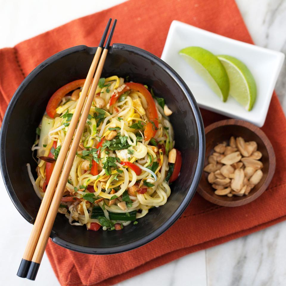 Summer Squash Pad Thai EatingWell Test Kitchen