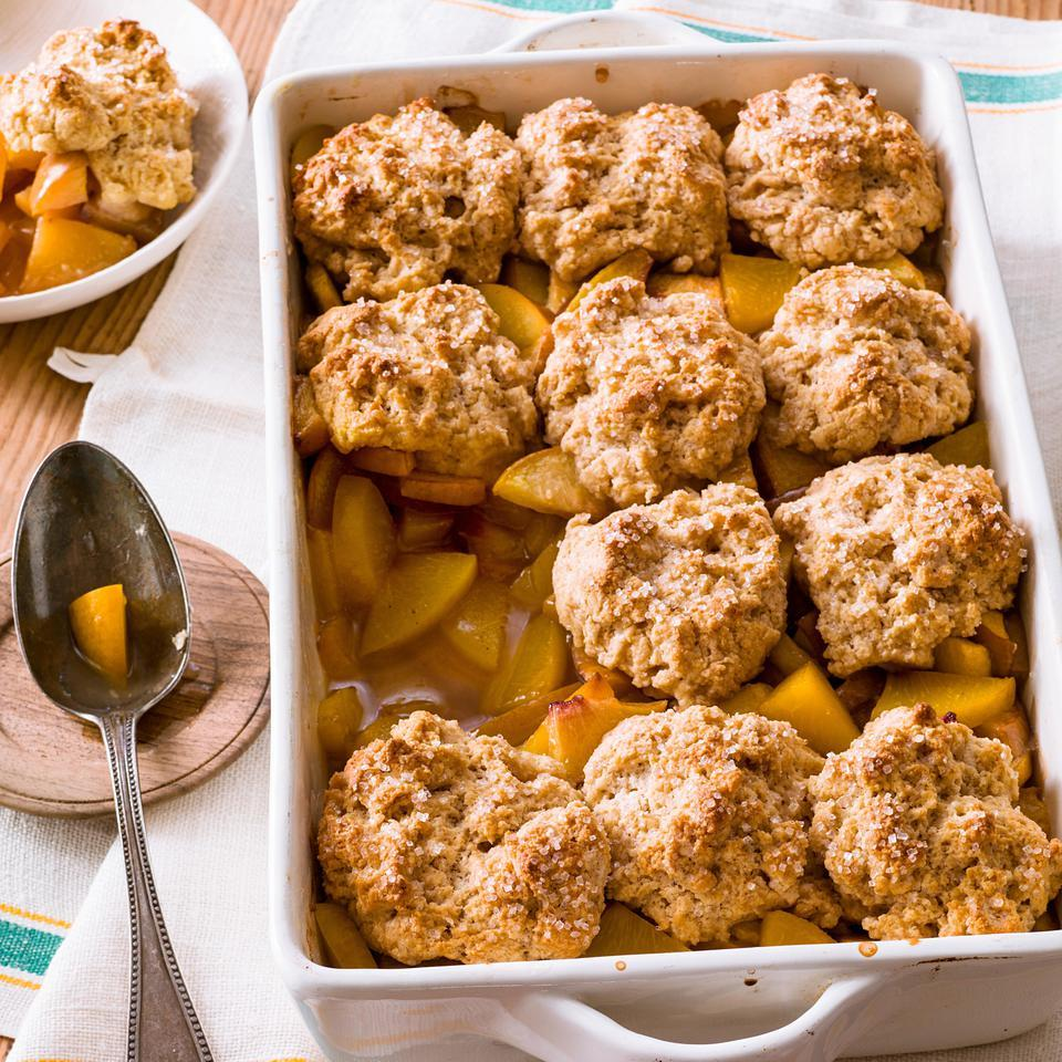 Bourbon-Peach Cobbler EatingWell Test Kitchen