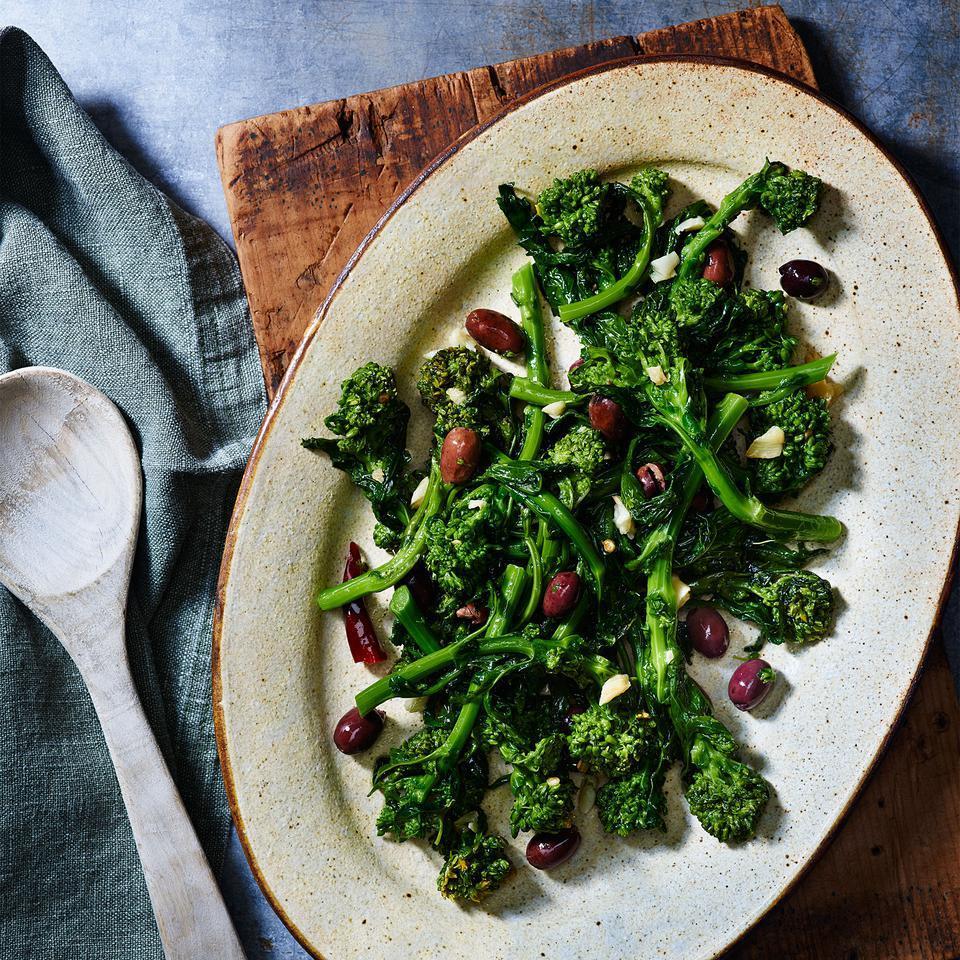 Broccoli Rabe with Olives & Garlic (Broccoli di Rape Stufati) Nancy Harmon Jenkins