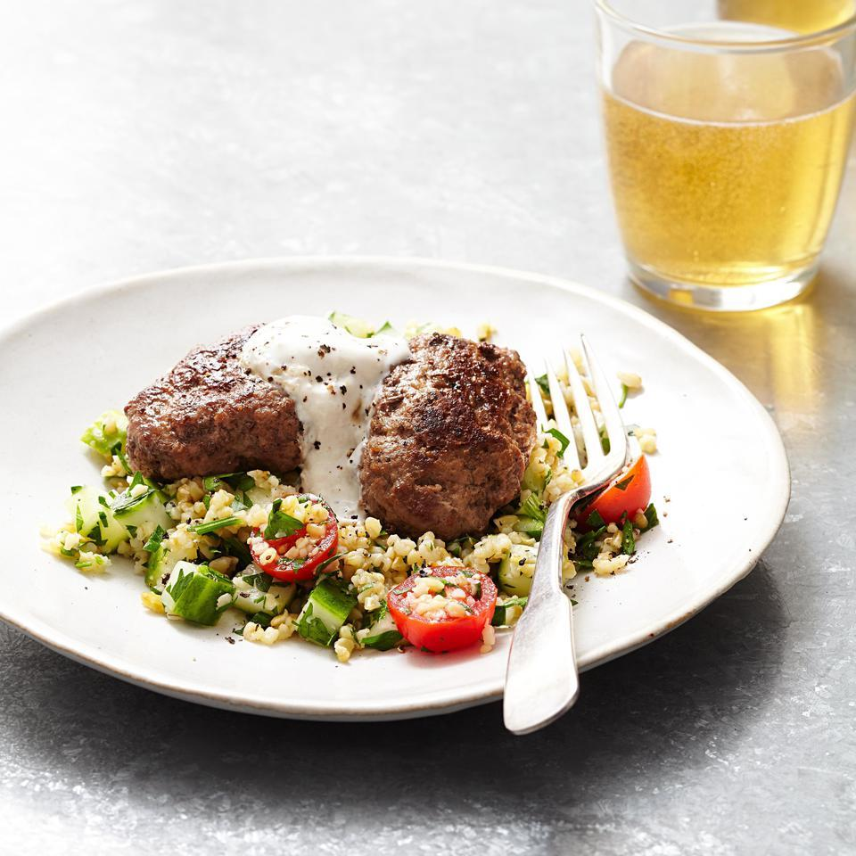 Freekeh Tabbouleh with Spiced Lamb Kofta Lia Huber