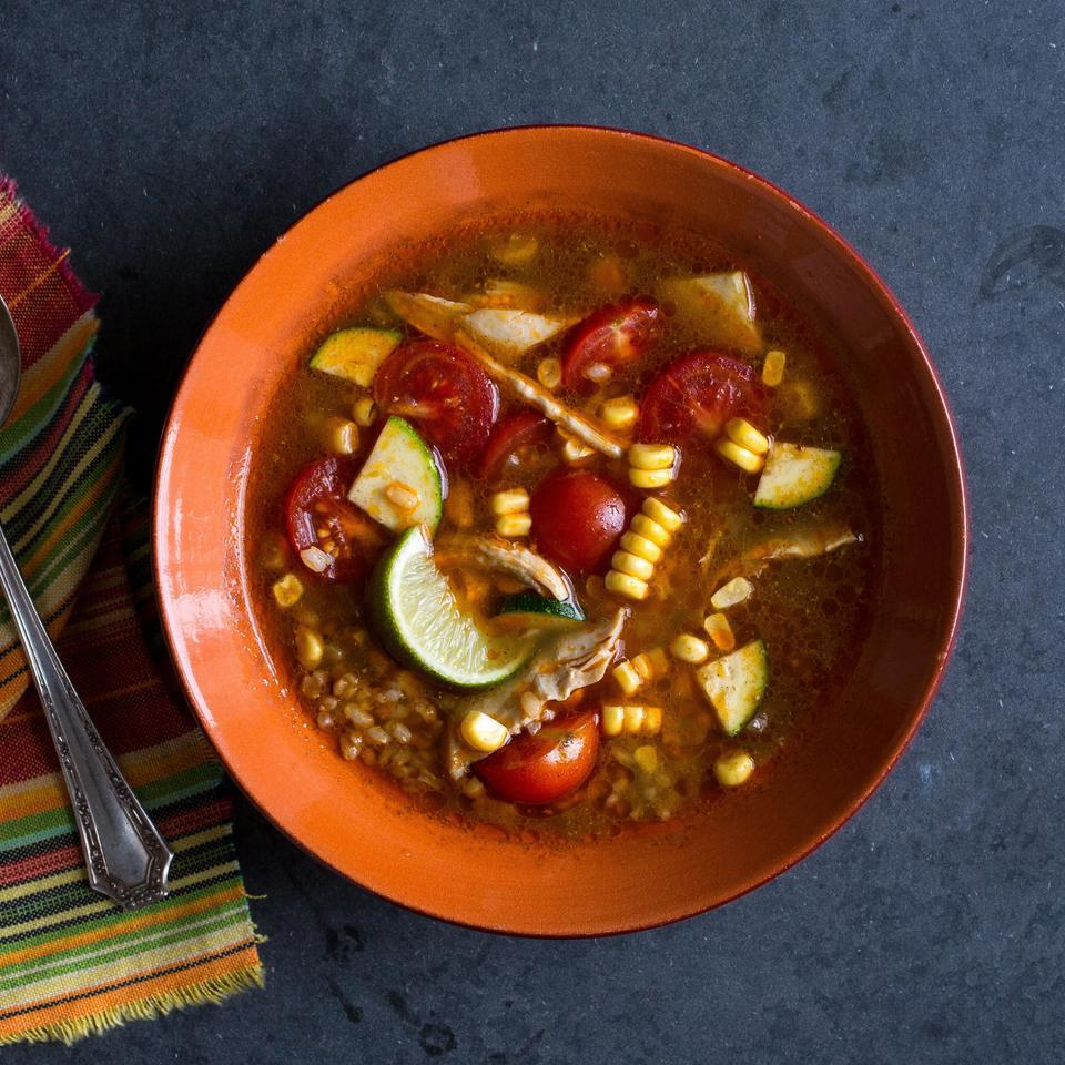 Chipotle Chicken & Vegetable Soup EatingWell Test Kitchen