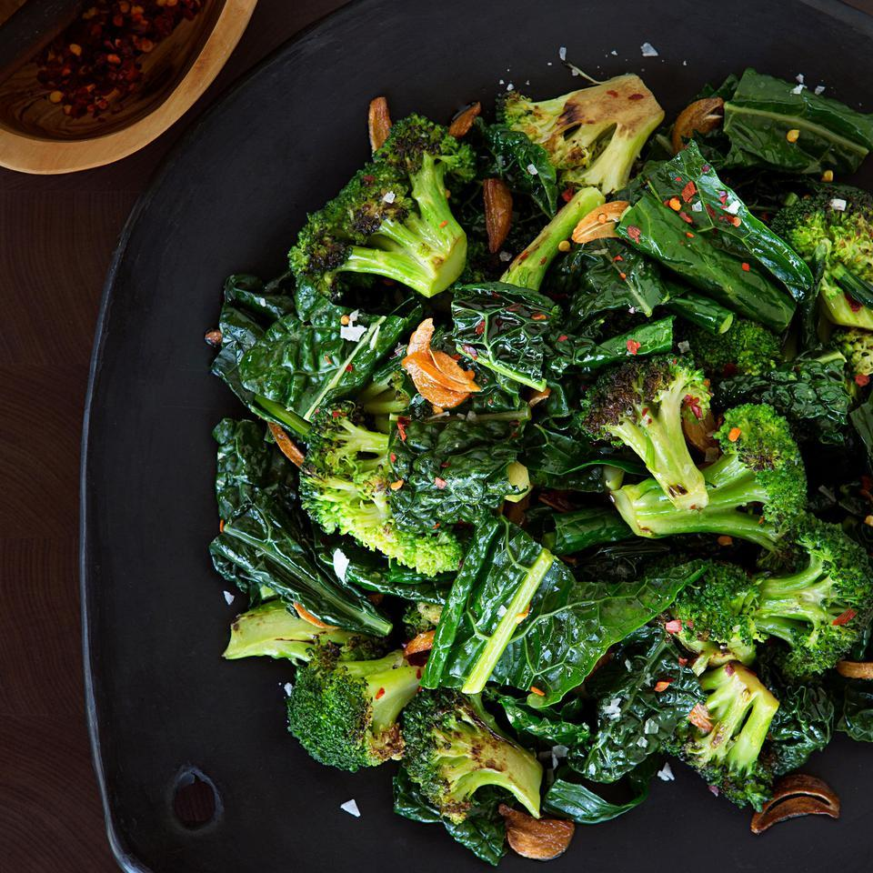 Sauteed Broccoli & Kale with Toasted Garlic Butter Lia Huber
