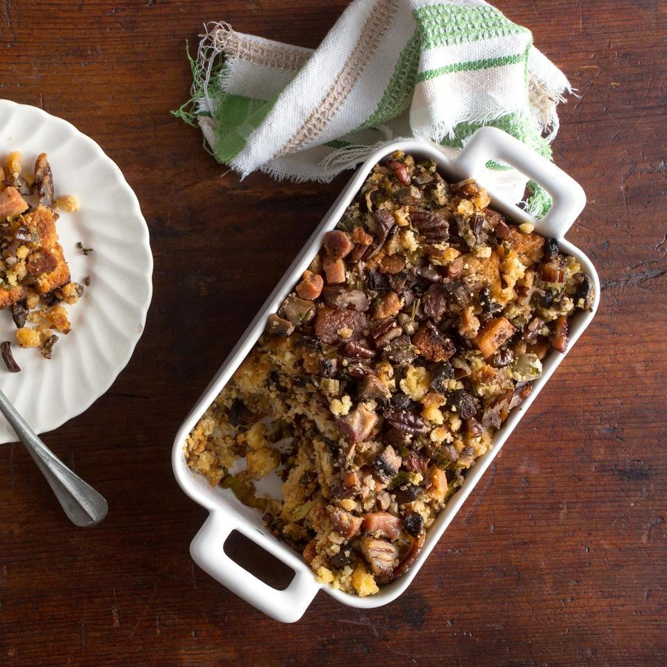 Mushroom-Cornbread Stuffing EatingWell Test Kitchen