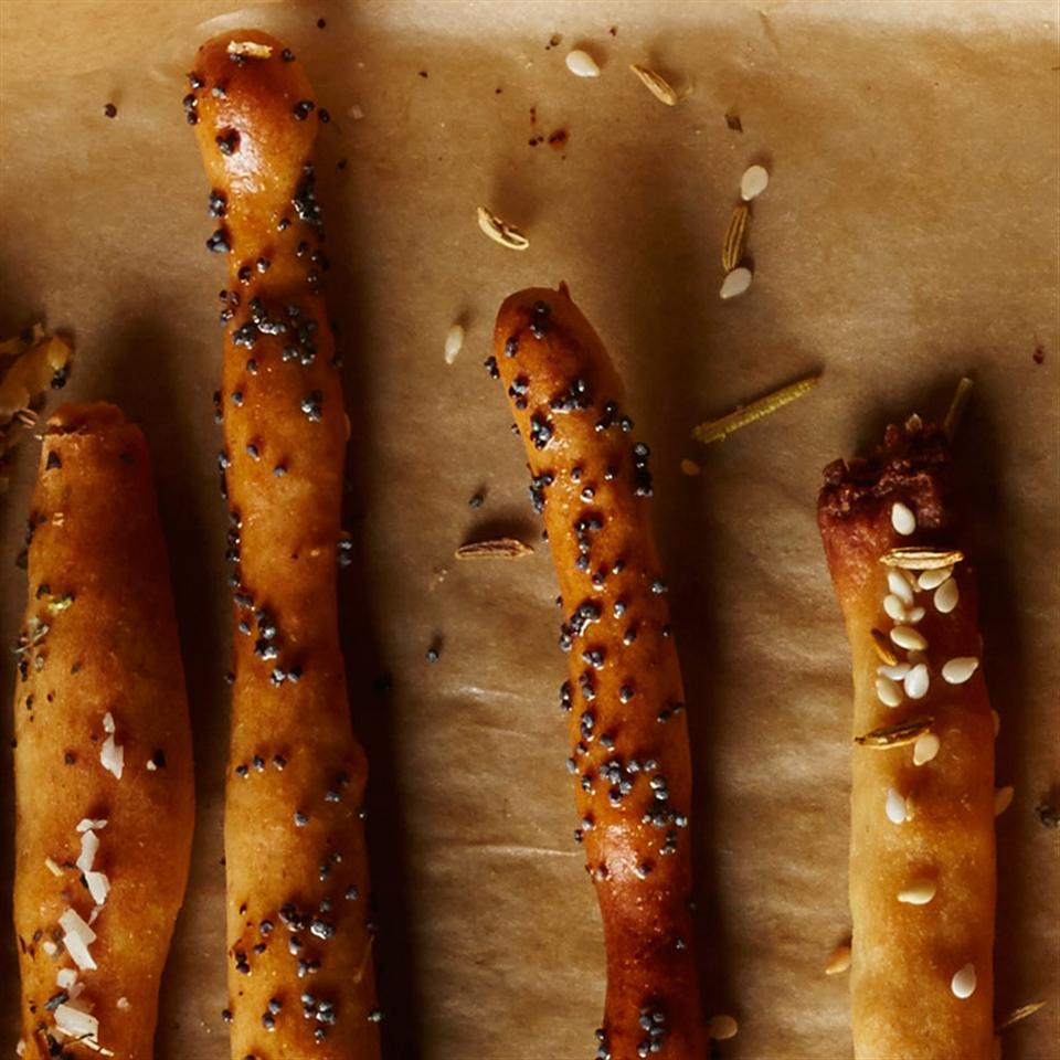 Onion & Poppy Seed Breadsticks Breana Killeen