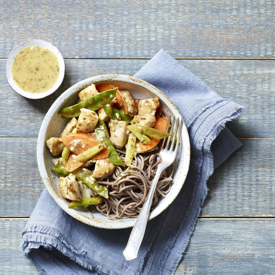 Carrot, Snow Pea & Chicken Stir-Fry EatingWell Test Kitchen