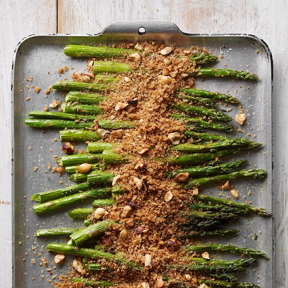 Roasted Asparagus with Parmesan Breadcrumbs EatingWell Test Kitchen