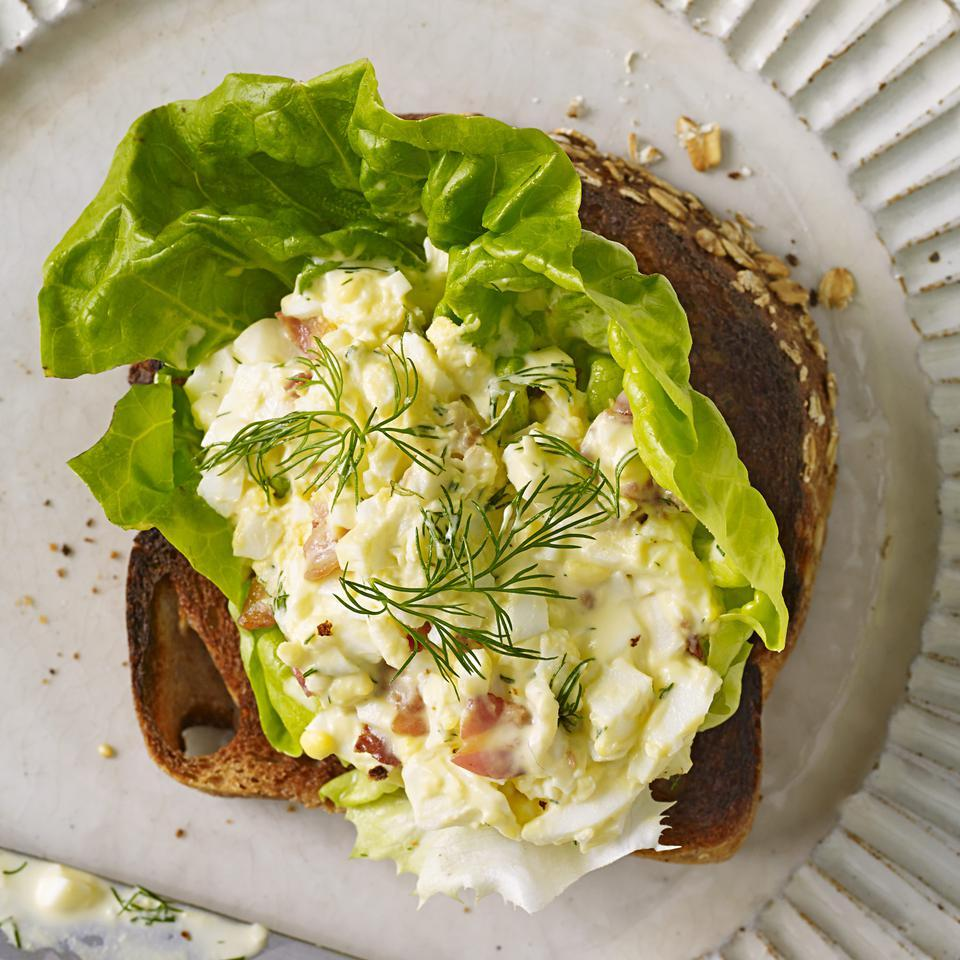 Open-Face Egg Salad Sandwich Kathy Gunst