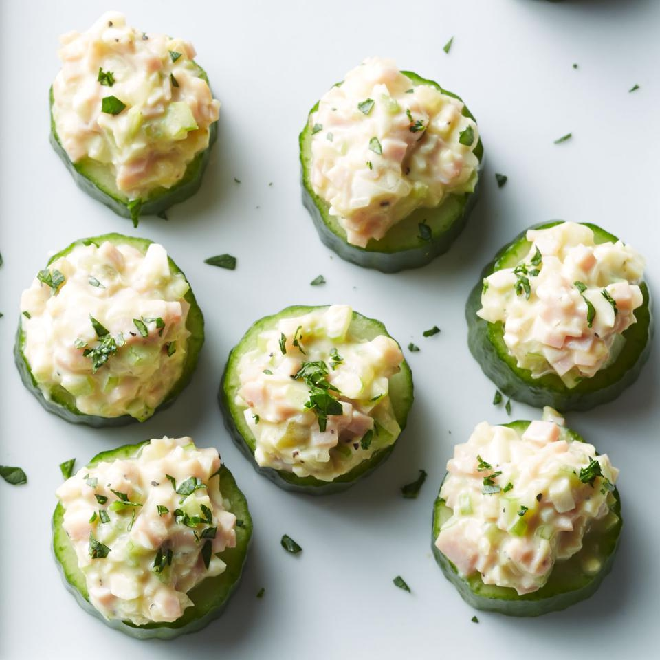 Cucumber Cups with Deviled Ham Salad EatingWell Test Kitchen