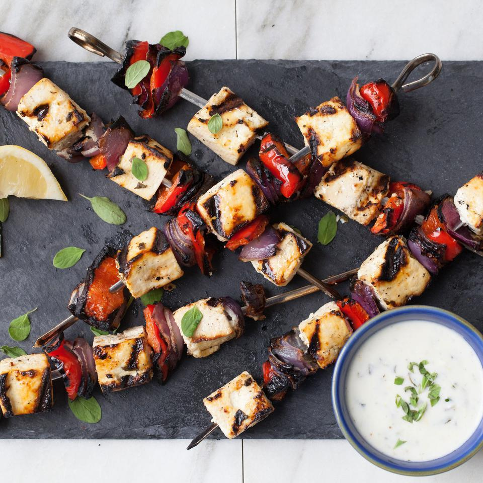 Lemon & Herb Tofu Kebabs EatingWell Test Kitchen