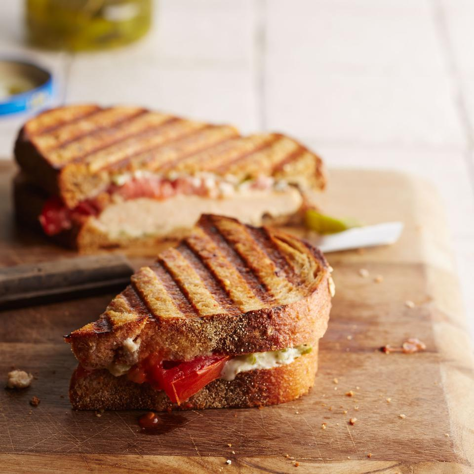 Jalapeno Popper-Chicken Panini EatingWell Test Kitchen