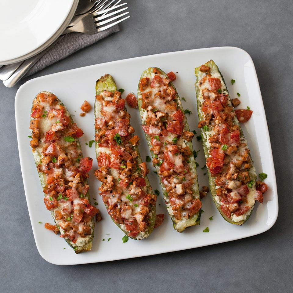 Lasagna-Stuffed Zucchini EatingWell Test Kitchen