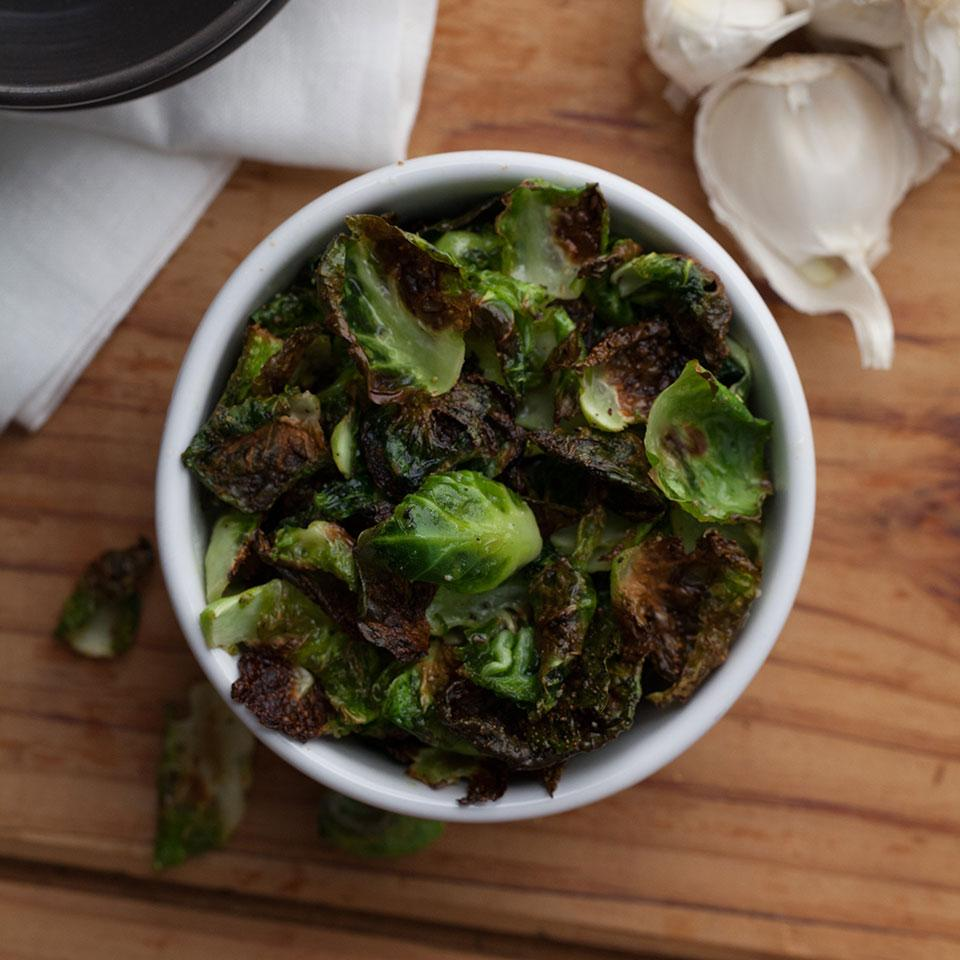Garlic Brussels Sprout Chips EatingWell Test Kitchen