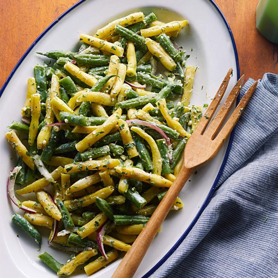 Green Bean Salad with Feta Dressing EatingWell Test Kitchen