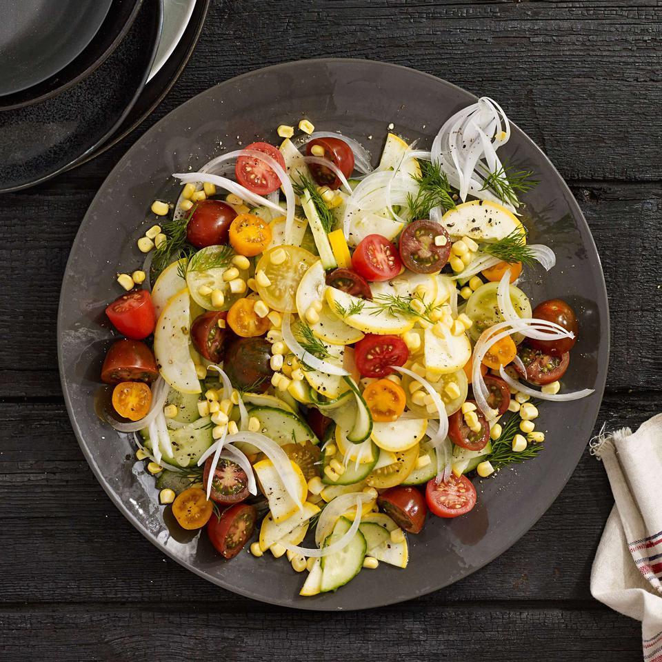 Heirloom Tomato & Summer Vegetable Salad Vivian Howard