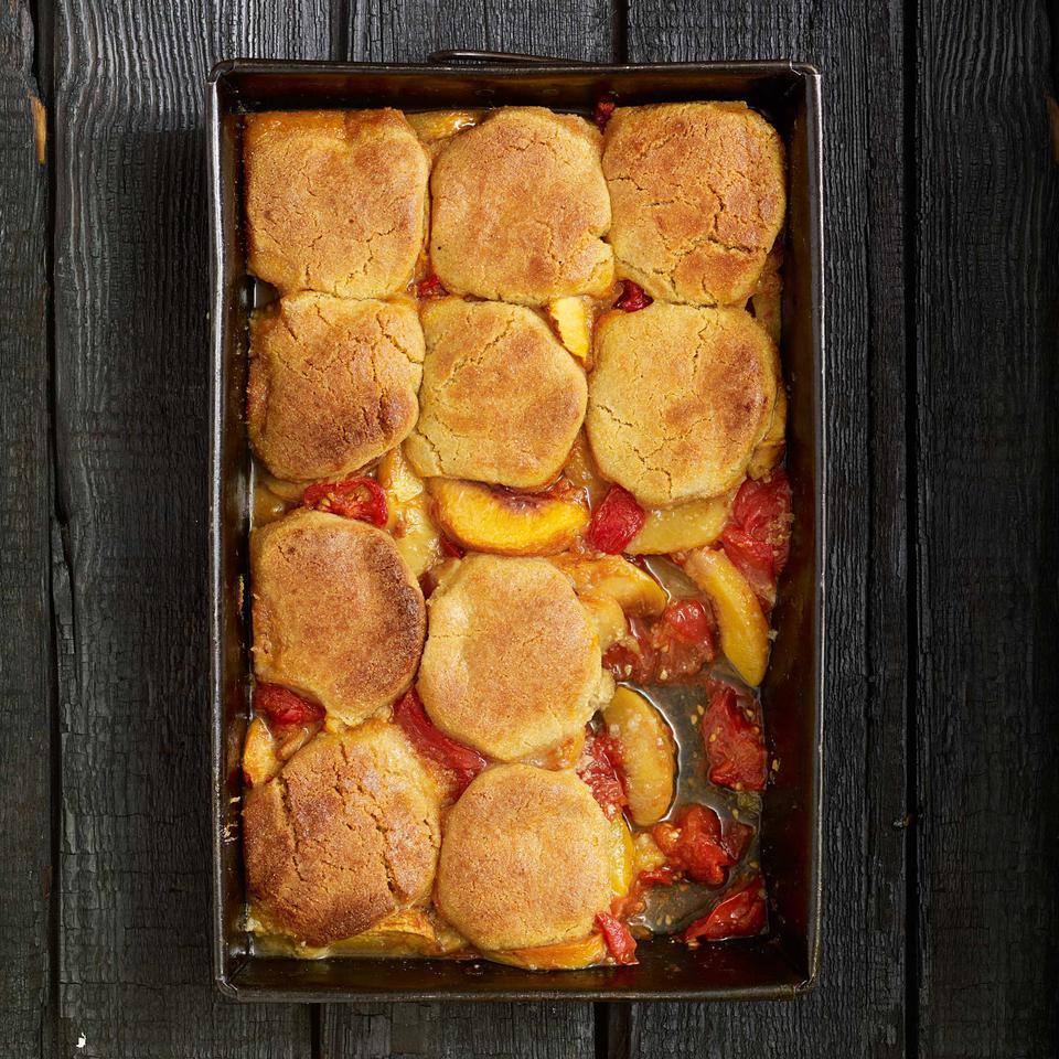 Tomato-Peach Cobbler Vivian Howard