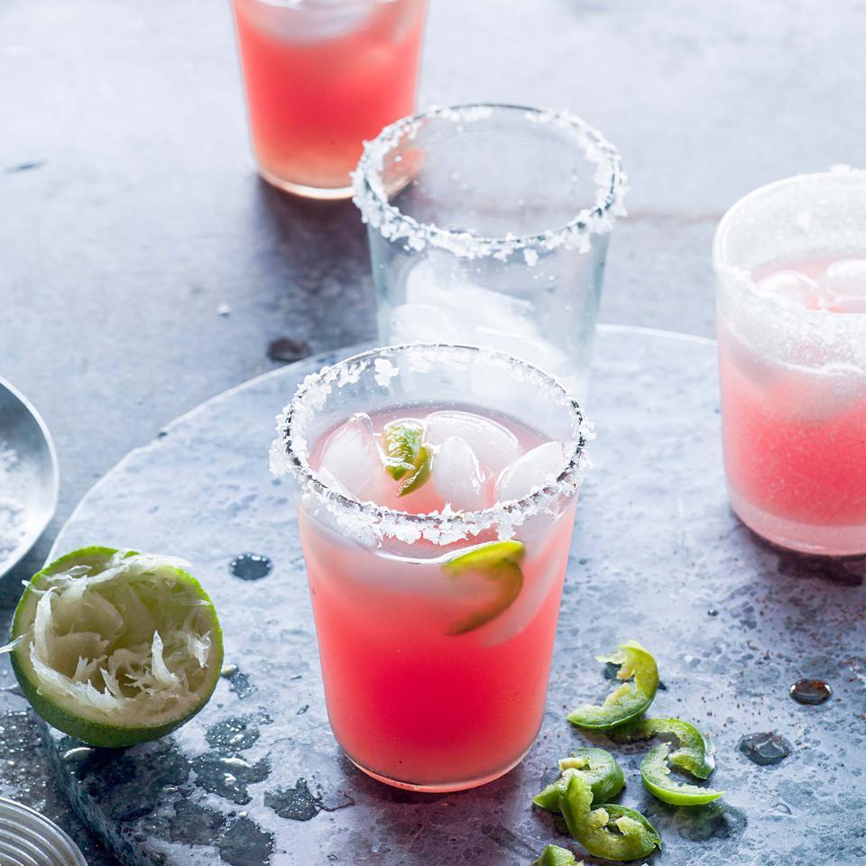 Jalapeño-Watermelon Margaritas Andrea Bemis