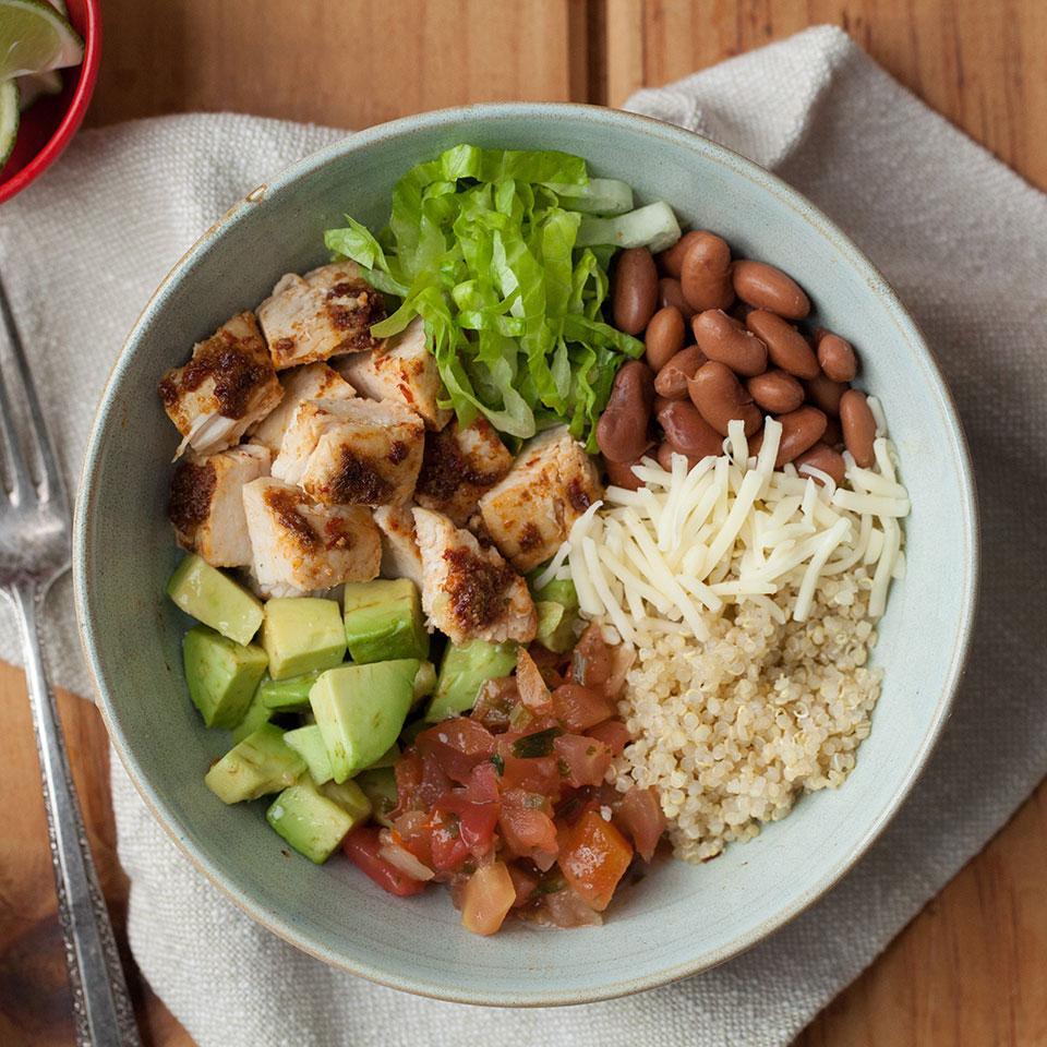 Chipotle Chicken Quinoa Burrito Bowl EatingWell Test Kitchen