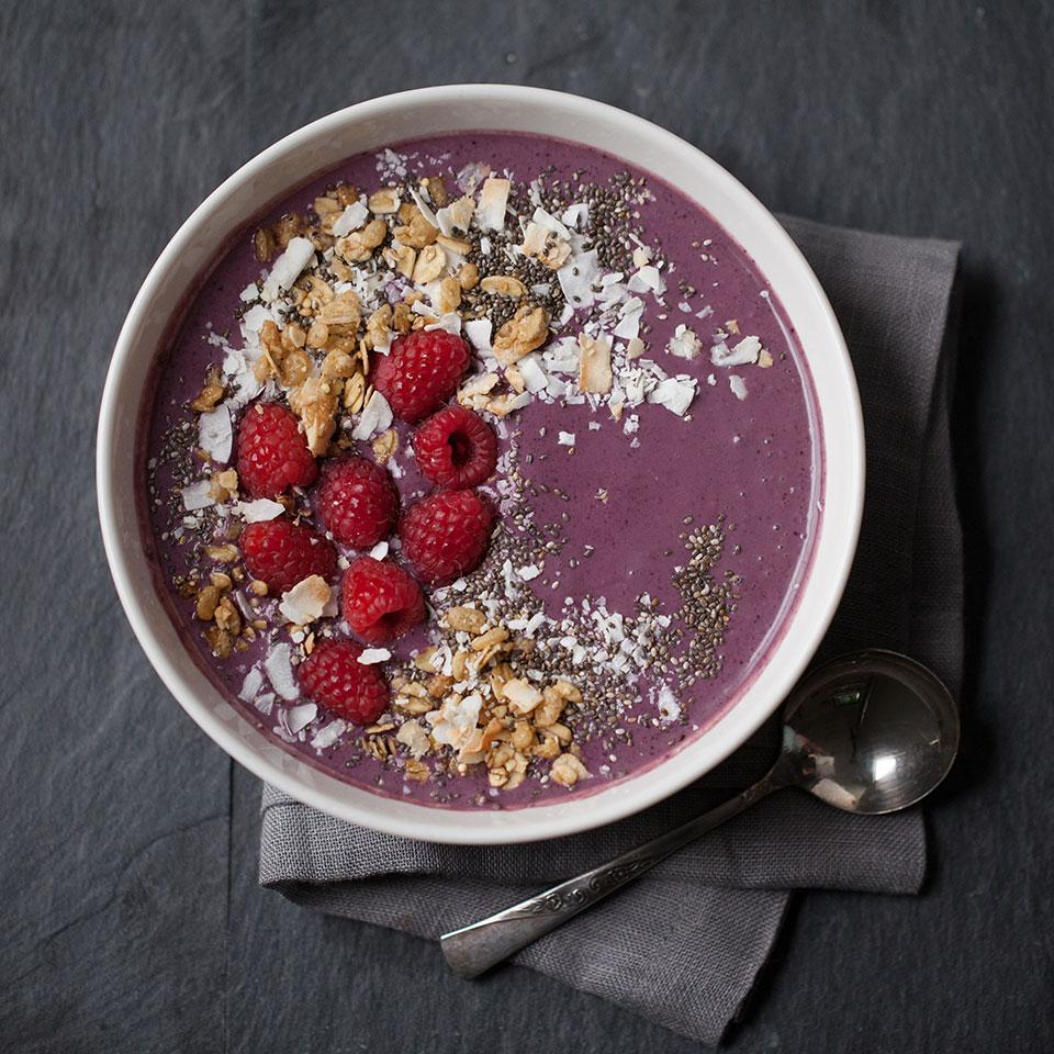 Acai-Blueberry Smoothie Bowl EatingWell Test Kitchen