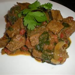 Beef and Spinach Curry jane Gibraltar