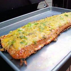 Cheesy Baked Salmon