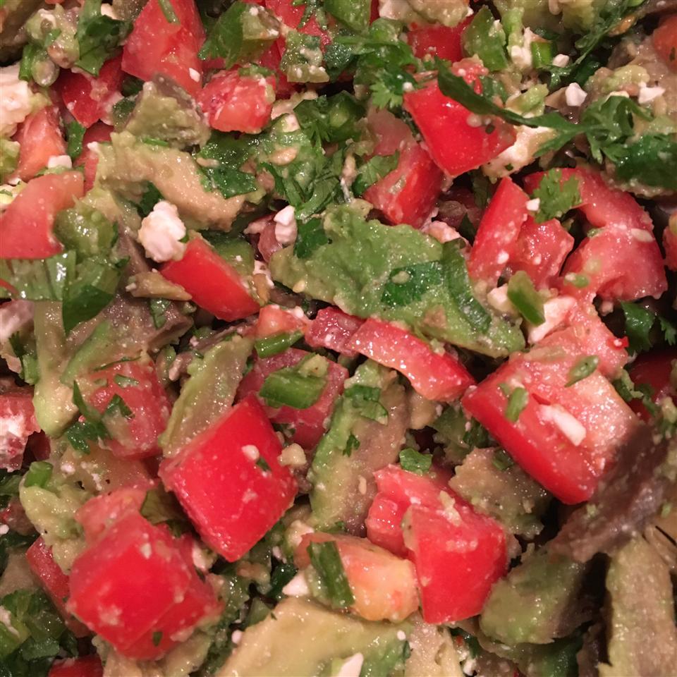 Cilantro, Avocado, Tomato, and Feta Salad MamaFoundaHobby