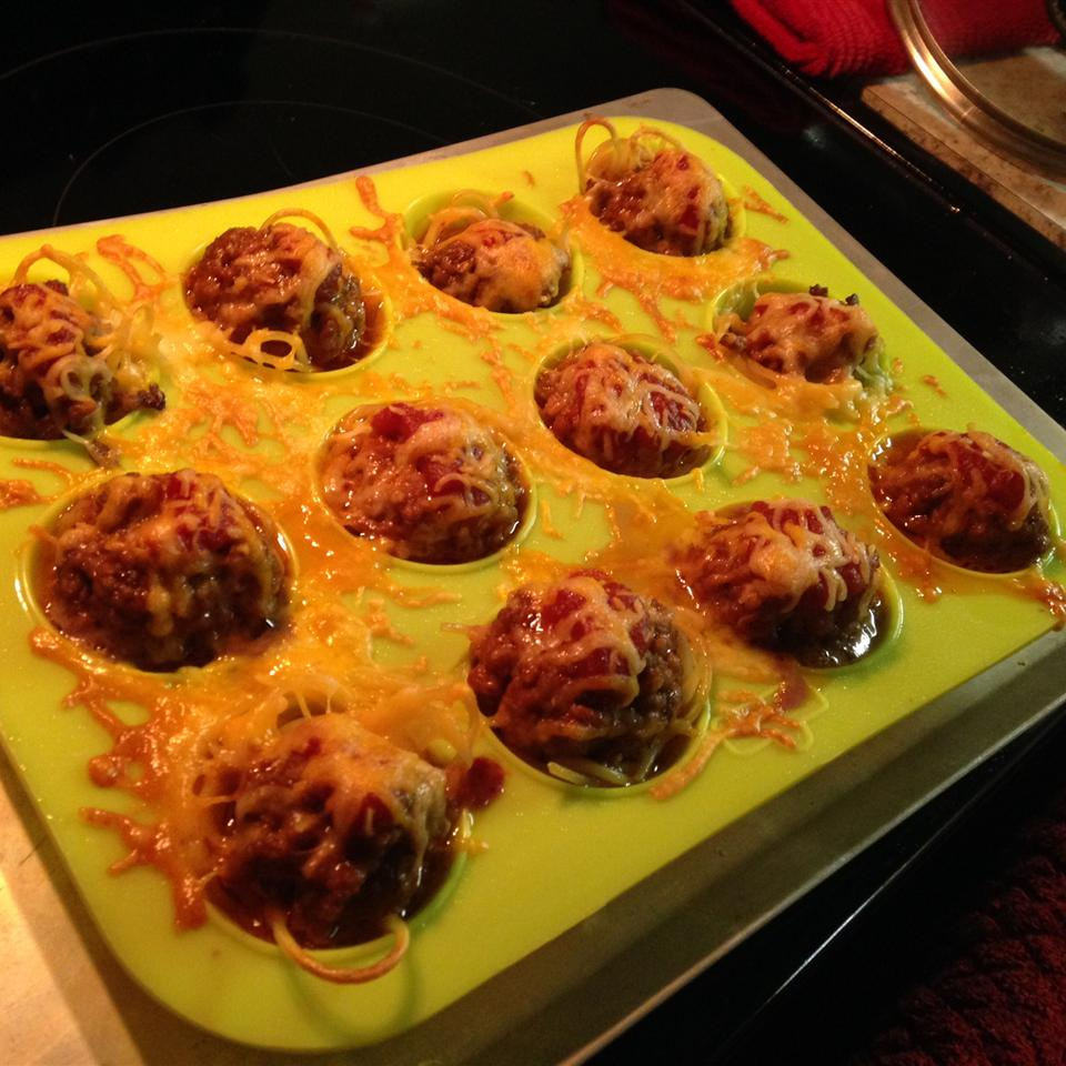 Spaghetti and Meatballs Muffin Bites Julie Christensen