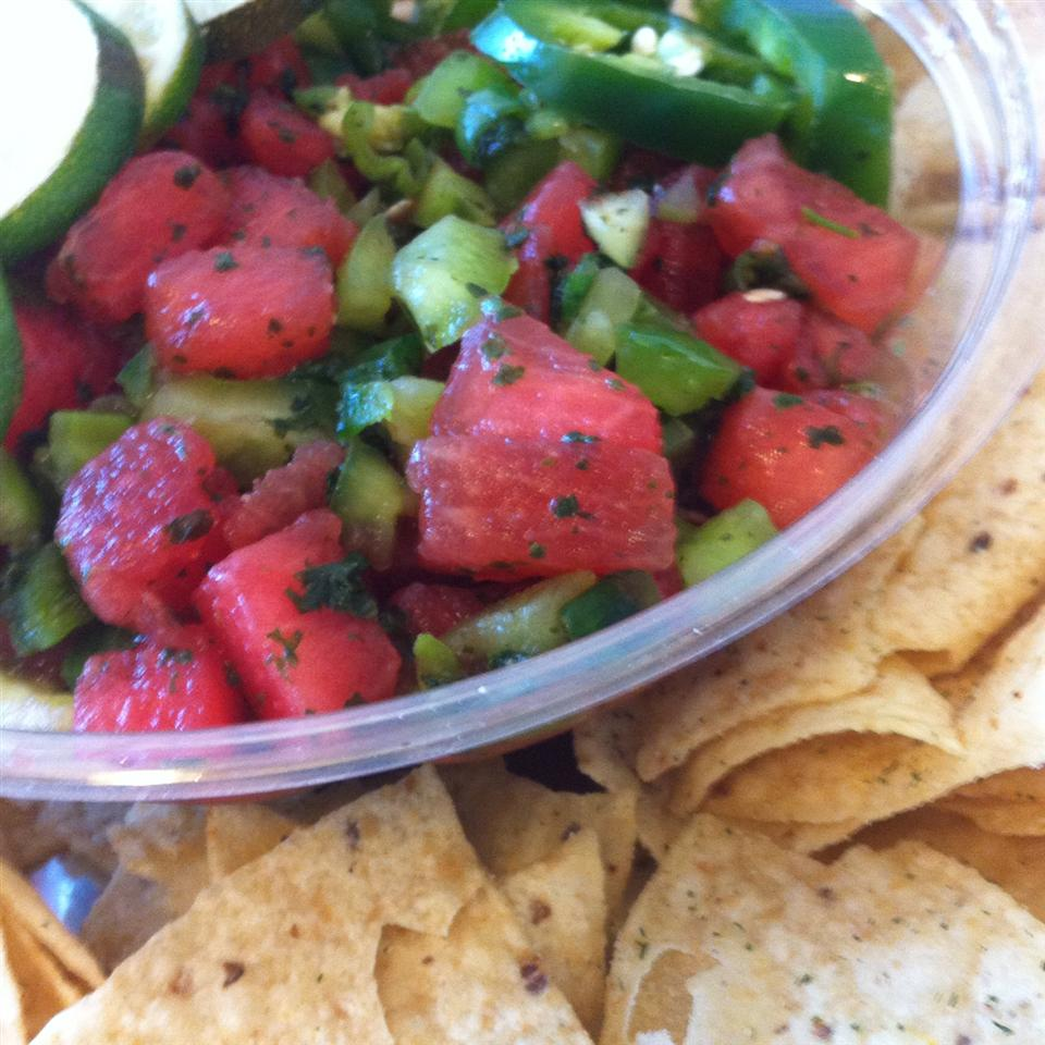 Watermelon Fire and Ice Salsa J Scallions