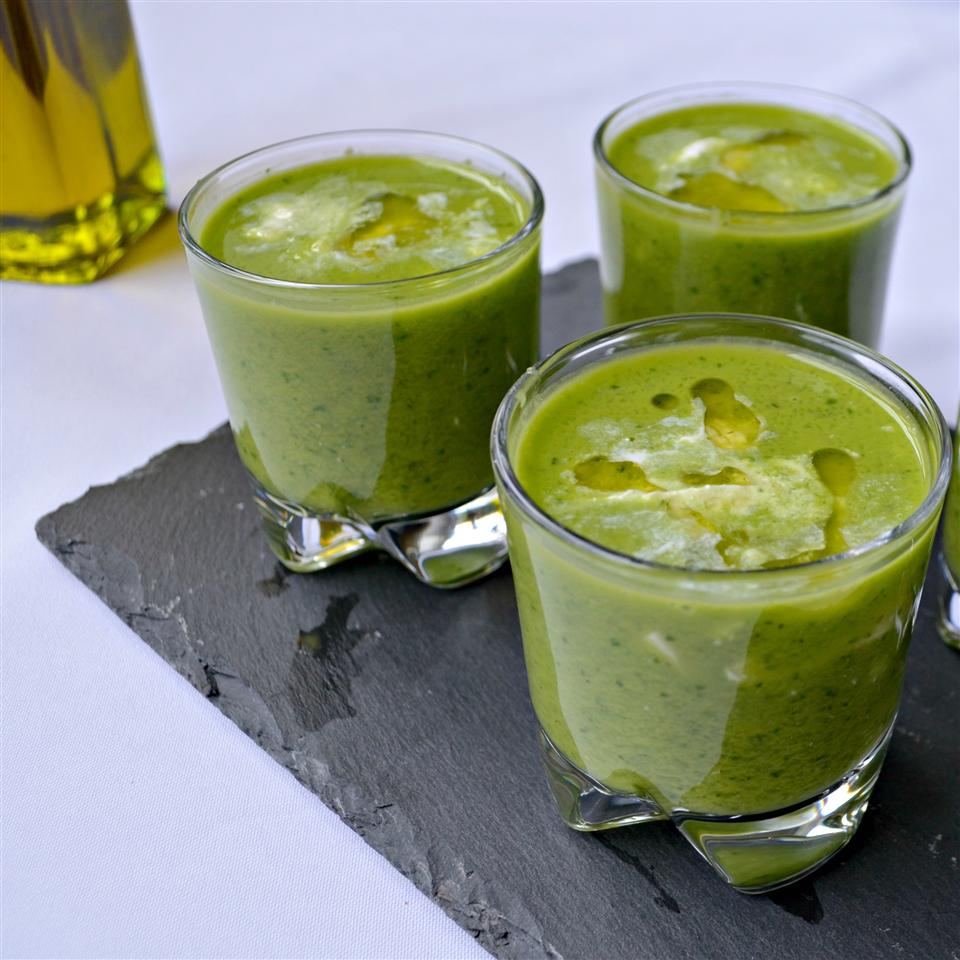 Gazpacho Verde with Burrata Cheese