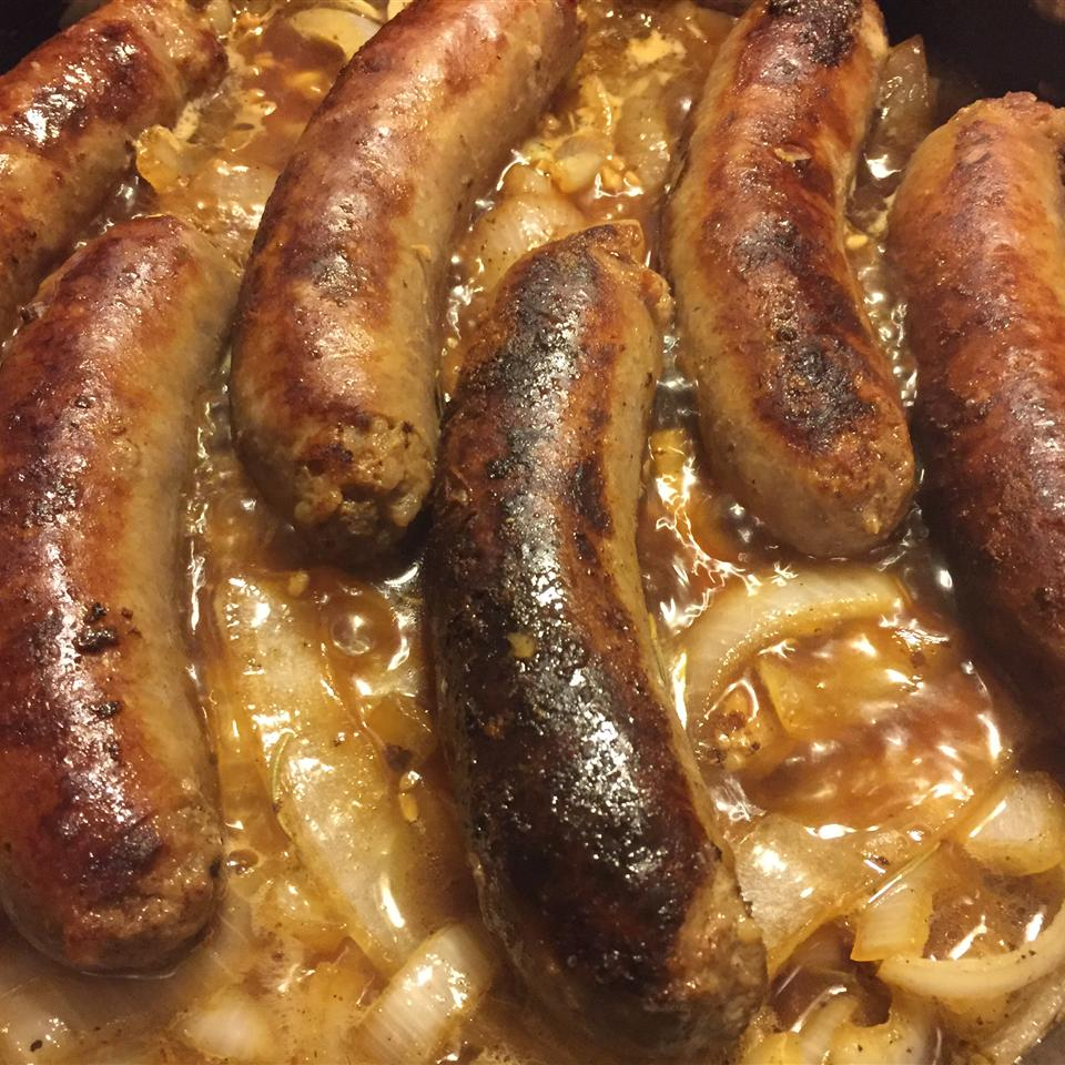 Brats, Onions, and Apples