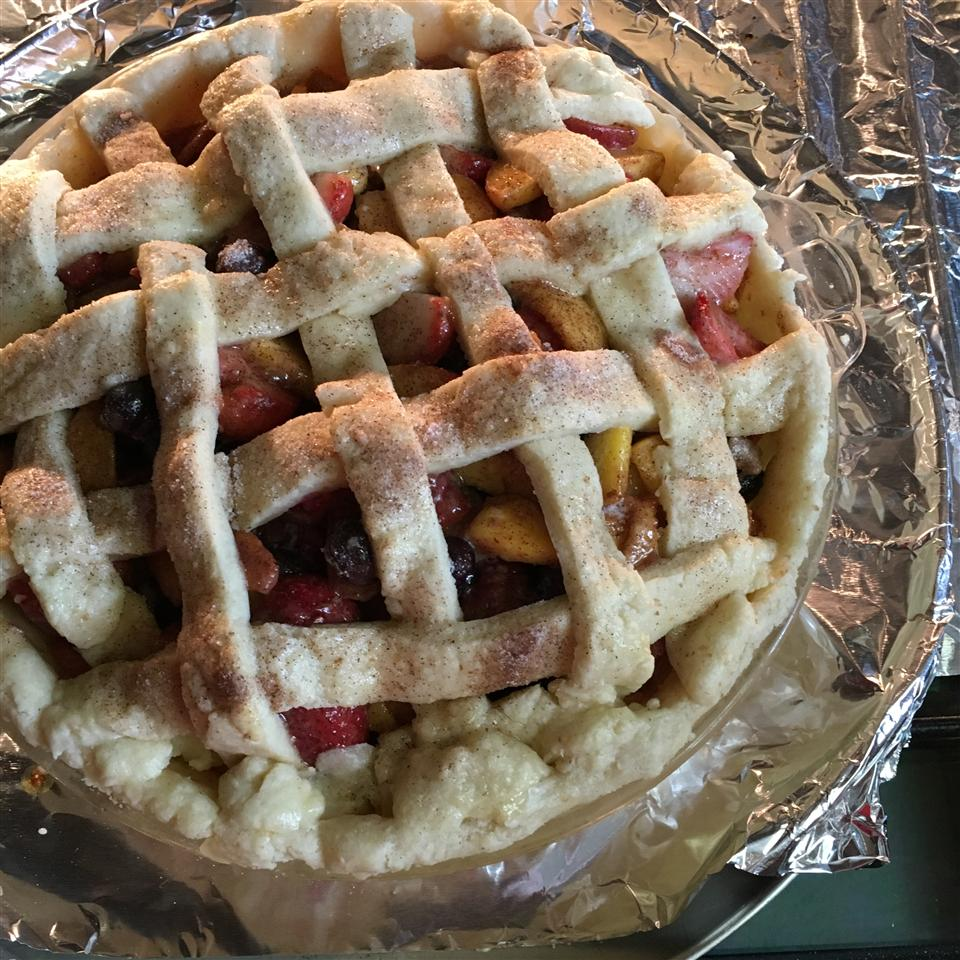 Summer is Here Triple Berry Peach Pie Lori Andrews Carpenter