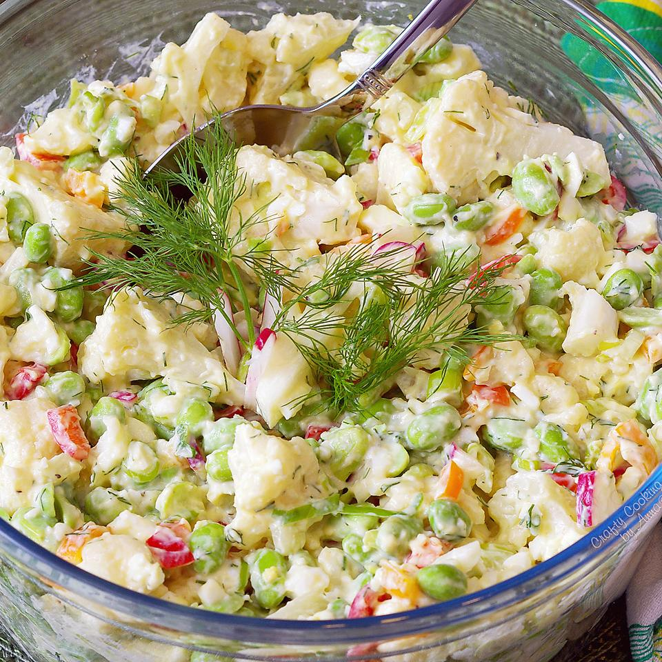 Healthy Cauliflower and Edamame Salad Anonymous
