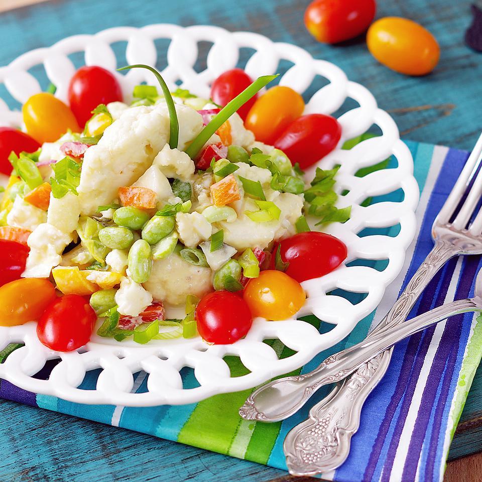 Healthy Cauliflower and Edamame Salad