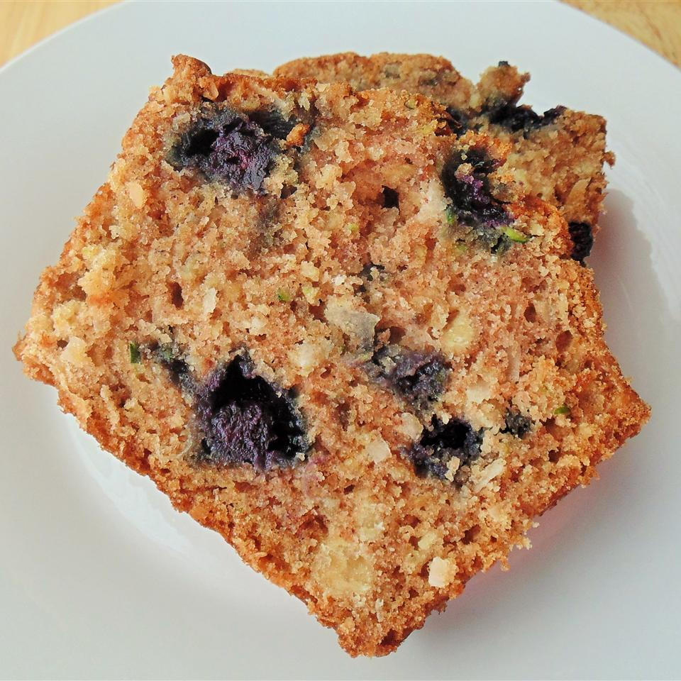 Barbie's Blueberry Zucchini Bread with Oatmeal and Walnuts Christina