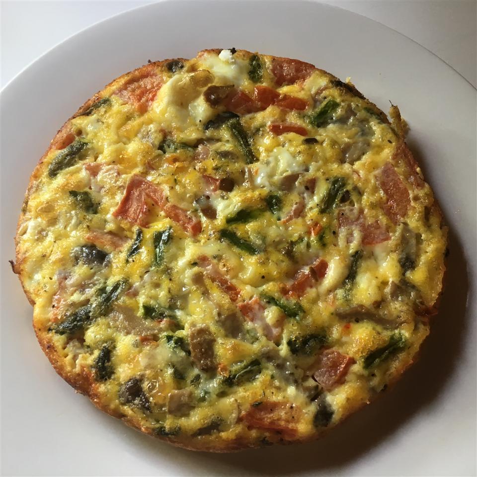 Frittata Alle Erbette (Baked Herb Omelette)