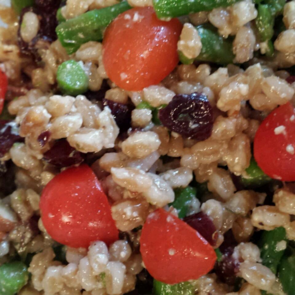 Farro Salad with Asparagus and Parmesan