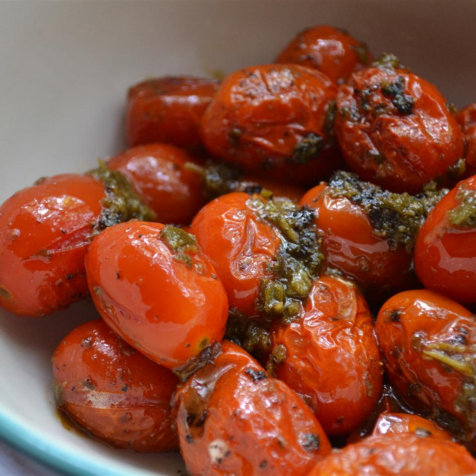 Blistered Tomatoes with Herbs Rebekah Rose Hills