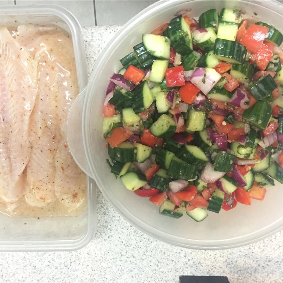 Israeli Tomato and Cucumber Salad Pamela Braet