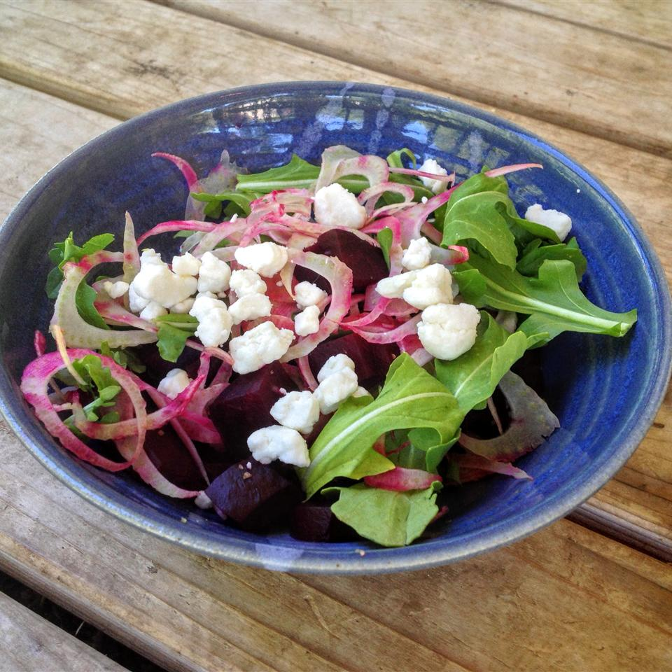 Beet and Fennel Salad with Goat Cheese Smye Sarrel