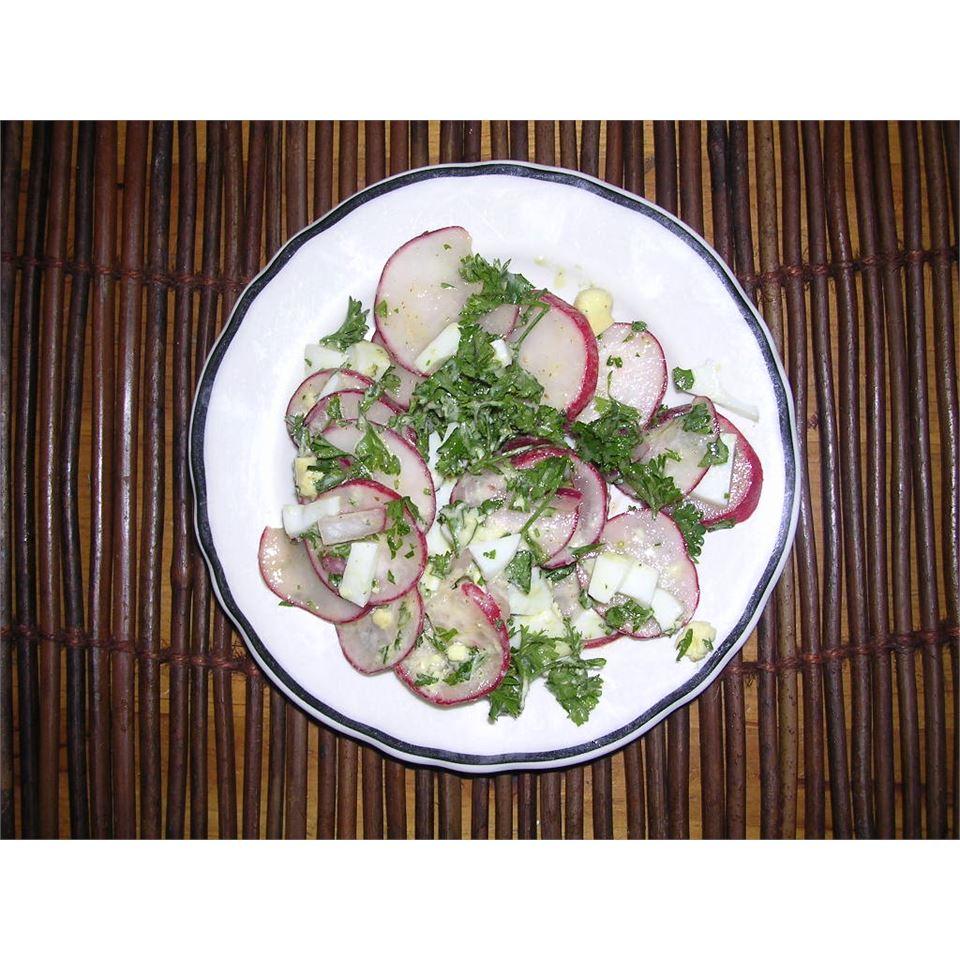 Radish Salad With Parsley & Chopped Eggs