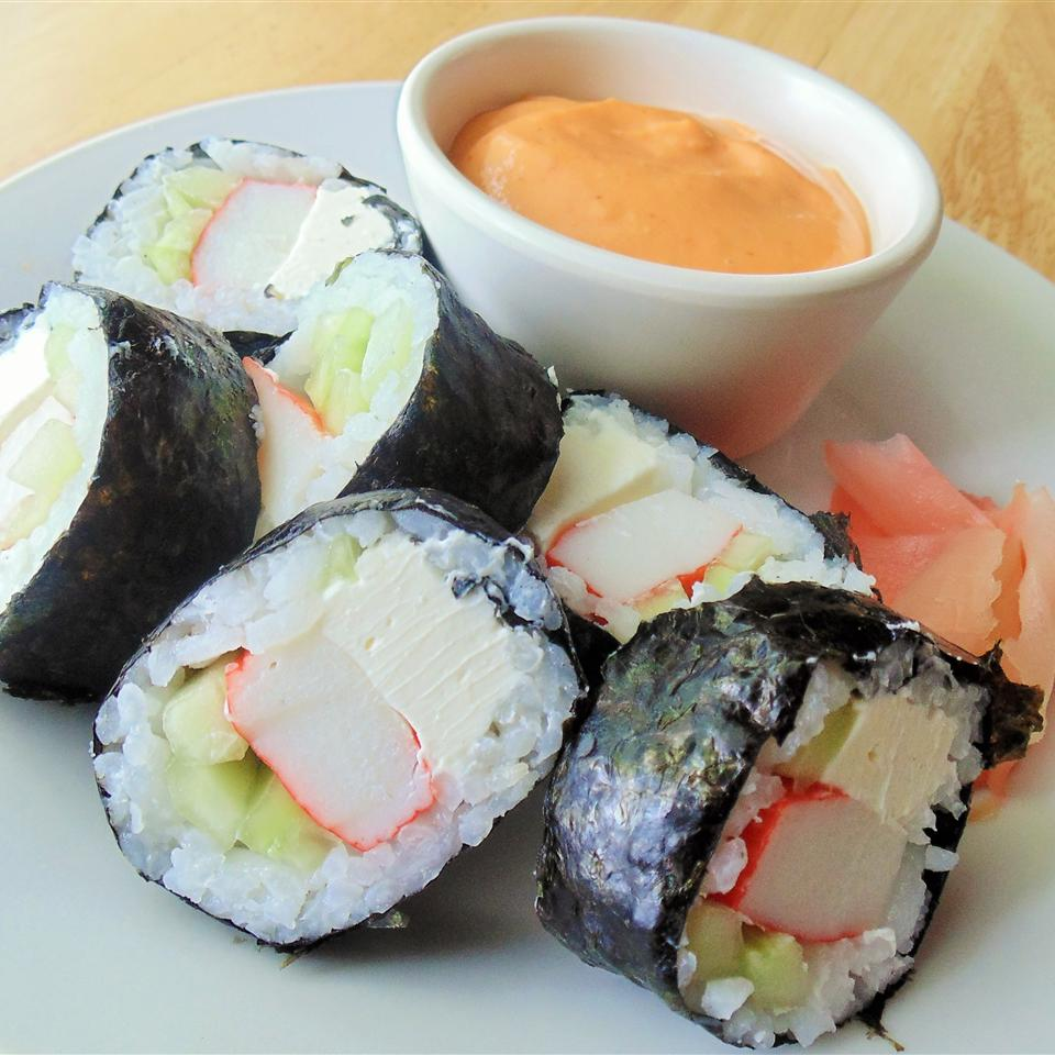 Cream Cheese and Crab Sushi Rolls Christina