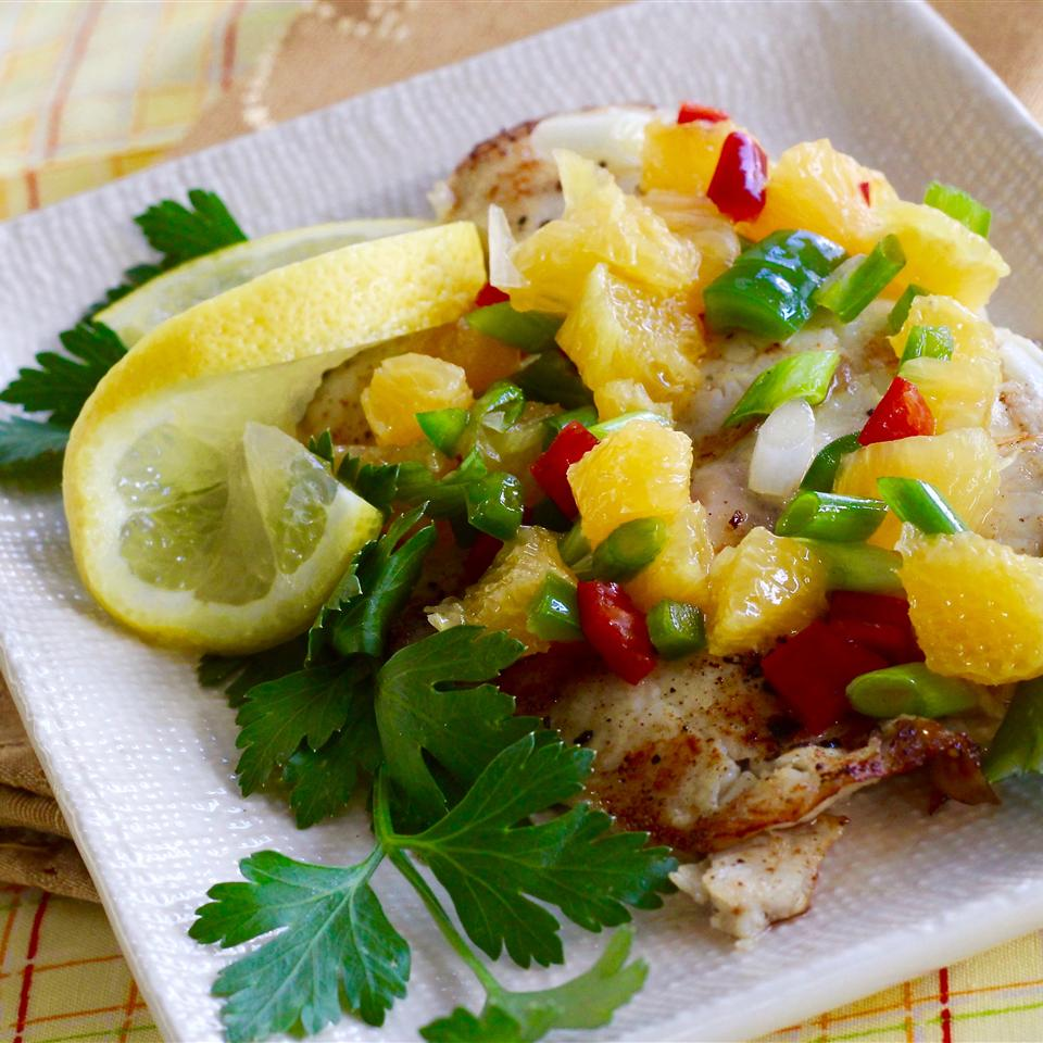 Grilled Tilapia with Orange Salsa lutzflcat