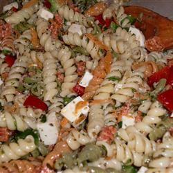 Pasta Salad with Homemade Dressing blackatty6