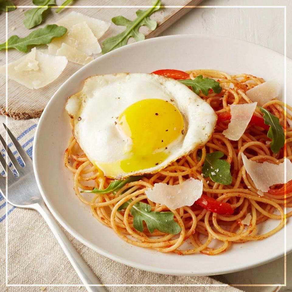 Brunch-Worthy Spaghetti And Eggs