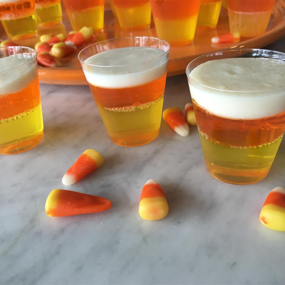 Halloween Candy Corn Jell-O® Shots