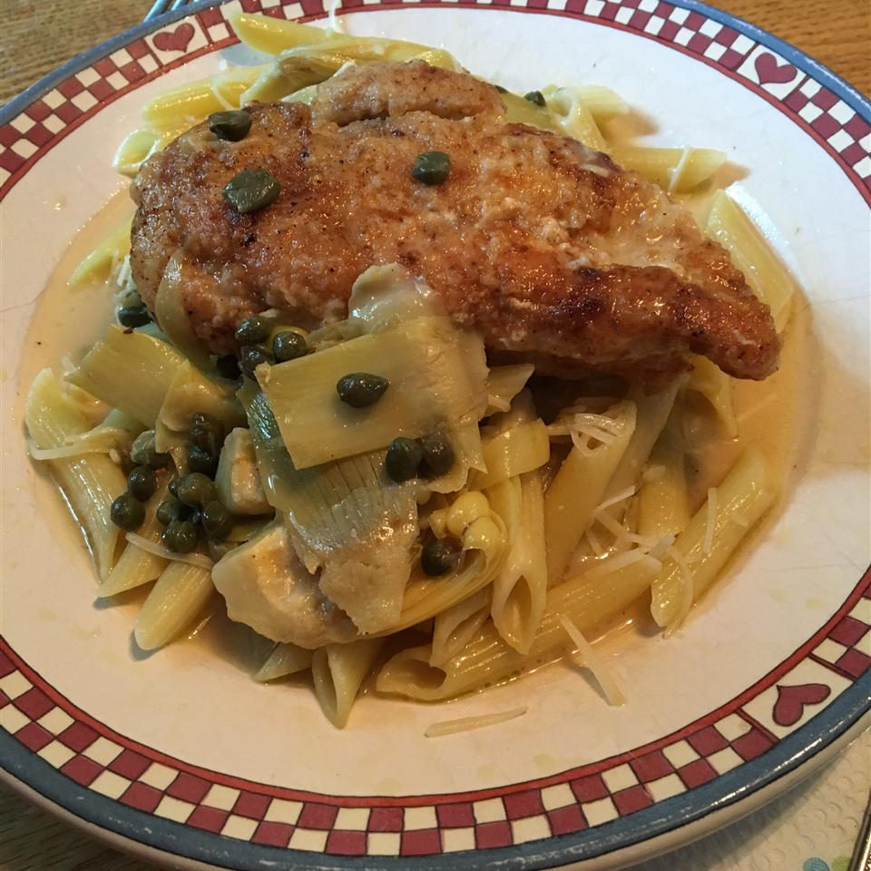 Chicken Breast Cutlets with Artichokes and Capers