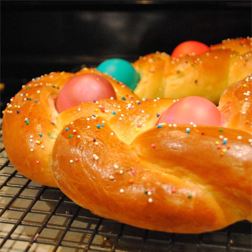 Braided Easter Egg Bread MARBALET