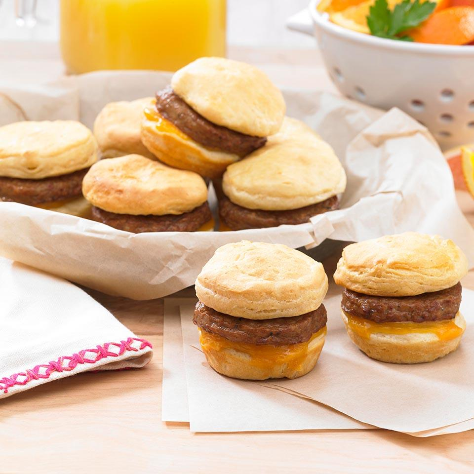 Breakfast Pattie Sliders with Cheese Allrecipes Trusted Brands