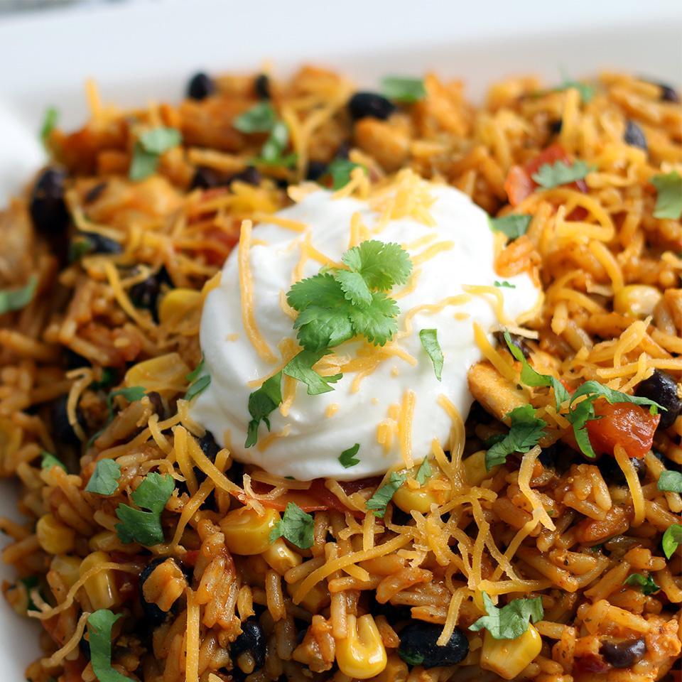 Easy Chicken Enchilada Rice